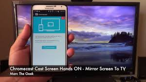 Chromecast Cast Screen Feature How To Mirror Screen To TV