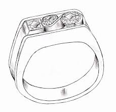 How to Draw A Wedding Ring Beautiful the Gallery for Two Wedding Rings Drawing