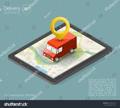 100 Gps Truck Route City Map Navigation Phone Point RoyaltyFree Stock Image