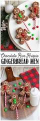 Rice Krispie Christmas Tree Ornaments by Chocolate Rice Krispie Gingerbread Men Pops Clean And Scentsible