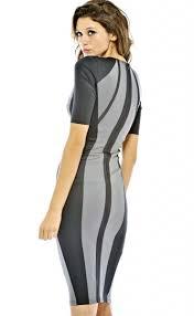 charming color block knee length dress n8908