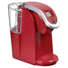 Red Keurig Coffee Maker Single Carafe Plus 1