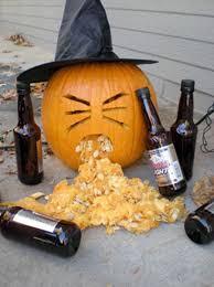 Puking Pumpkin Pattern by Drunken Halloween Pumpkin Vomiting Funny Image