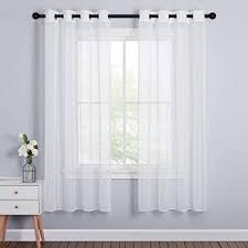 pony 2 stücke gardinen weiss transparent voile vorhang weiß fenster vorhänge für wohnzimmer dekoschals stores gardinen mit ösen h 175 x b 140