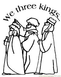 Christmas Three Kings Coloring Page