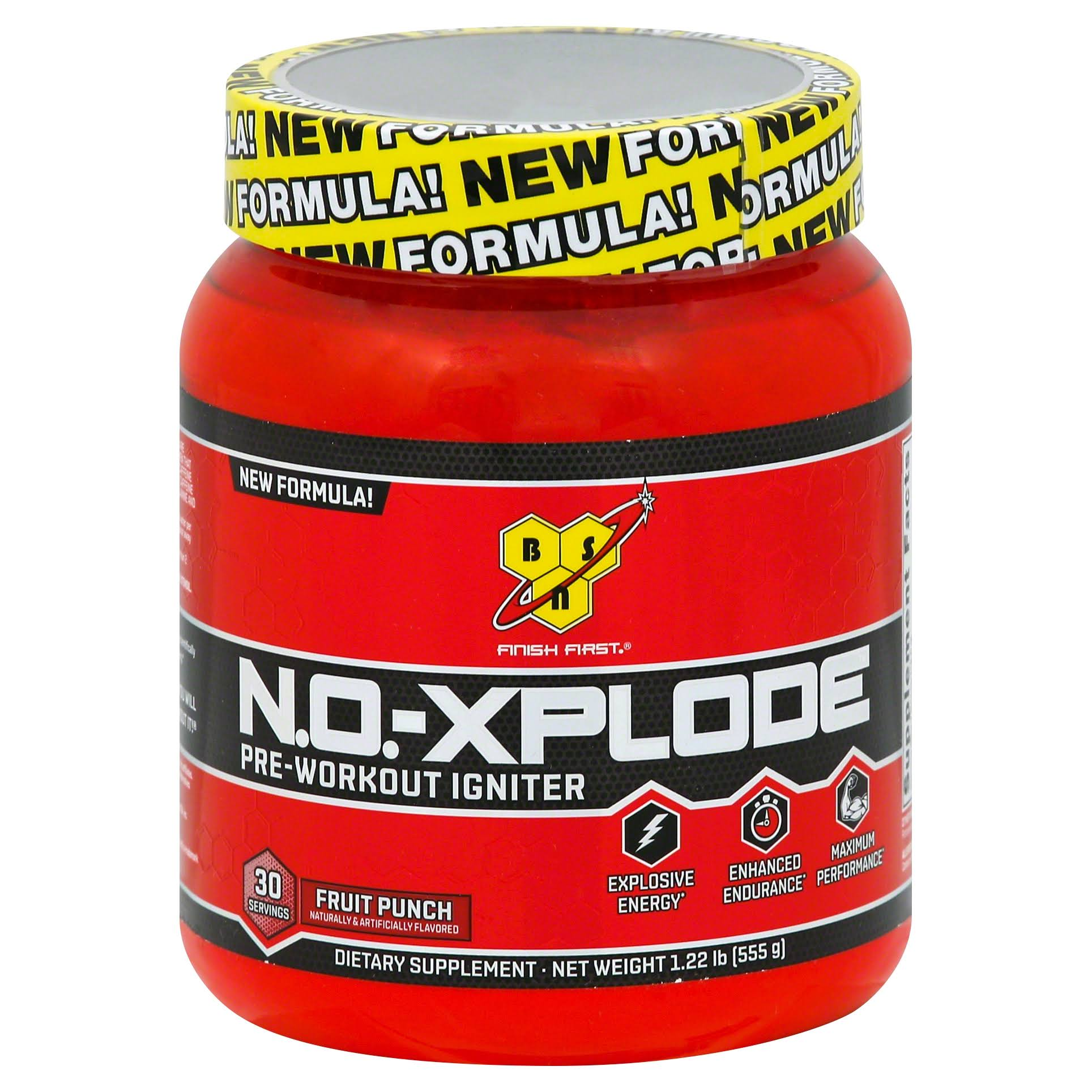 BSN N.O.-Xplode Pre-workout Igniter - Fruit Punch, 555g
