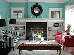 Teal And Brown Decorating Ideas Good Blue Cream Living Room