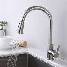 wasserhahn küche ausziehbar 3 sprühmodus matt gebürstet küchenarmatur edelstahl 360 grad drehbar mischbatterie mit kaltem und heißem wasser