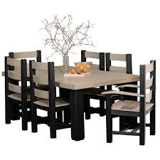 Poly Outdoor 4x27 X 6x27 Contemporary Dining Table Set