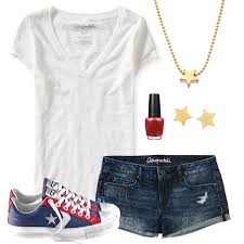 Cute Tee Jean Shorts Outfit