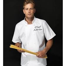 veste de cuisine personnalisée homme