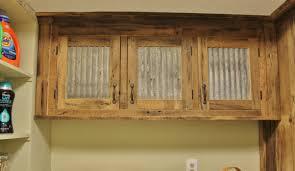 Rustic Upper Cabinet Reclaimed Barn Wood W Tin Doors