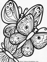 Detailed Coloring Pages For Adults Free Printable Butterfly
