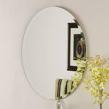 Bathroom Tilt Mirror Hardware by Shop Decor Wonderland Odelia 22 In X 28 In Oval Frameless Bathroom