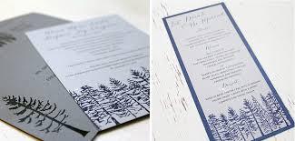 Mountain Tree Wedding Invite Calgary