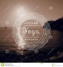 Name Of Yoga Studio On A Black And White Background EPSJPG