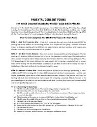 Child Medical Consent Form Templates