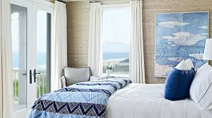 Arrowroot Wallpaper Evokes The Dunes Outside While Ocean Going John Robshaw Bedding And Sunny