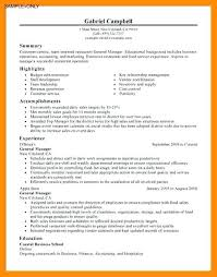 General Manager Resume Restaurant Sample E 1 A C 8 6 Facile Picture Although