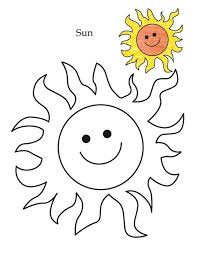 Level Sun Coloring Page Kindergarten Pages Shapes Geometric Leaf
