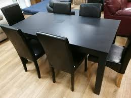 Black Ash Dining Table And 4 Matching Chairs | In Hamilton, South  Lanarkshire | Gumtree Solid Victoria Ash Ding Table With Angled Black Leg Design Extending First Albert Light Matt A Shaped Legs Designa 120187cm Melamine Grey Ding Room Ideas Chairs Daisy Modern Tables Sohoconcept Halsey 7piece Splay By Bernards At Wayside Fniture Lynd Dark Ash Liberty Home Dcor Online Lanesborough Hadley Rose Cannelle Gold Capped Barker Stonehouse