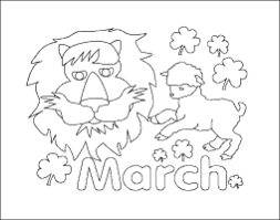 Printable Coloring Pages March Image Gallery Free