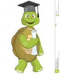 Tortuga Divertida Estudiante Ilustración Del Vector Ilustración