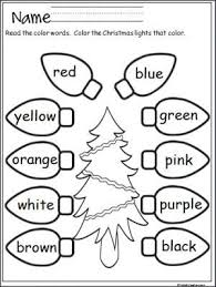 Free Christmas Lights Coloring Activity That Provides Practice With Color Words Terrific For Pre K And Kindergarten