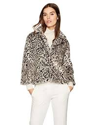 Cupcakes And Cashmere Womens Belle Leopard Faux Fur Jacket At Amazon Coats Shop