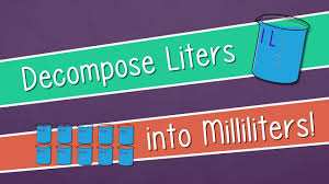 100 milliliters to liters decompose liters into milliliters engageny grade 3 module 2