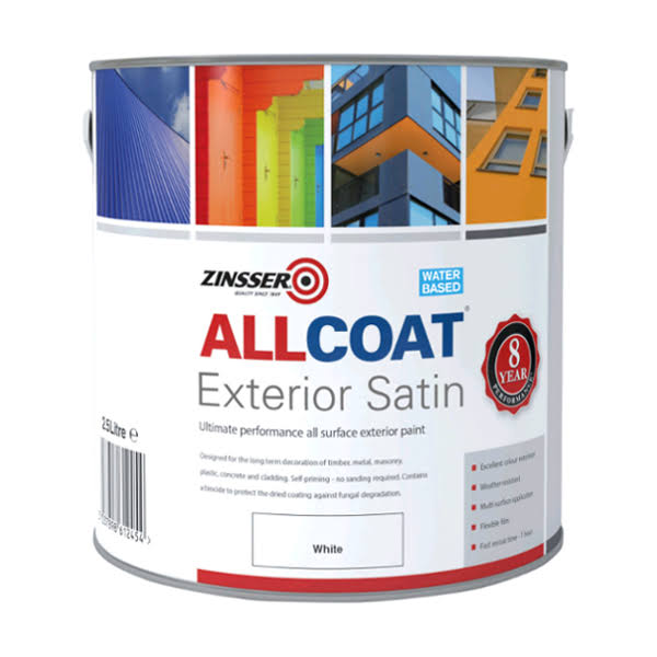 Zinsser Allcoat Exterior Satin 5 Litre Black