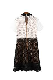 candide u0027 short sleeve black and white lace dress u2013 goodnight macaroon
