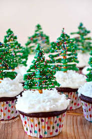 Chocolate Christmas Tree Cupcakes With Cream Cheese Frosting Recipe From Justataste