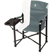 Woods Folding Directors Camping Chair With Table - Gunmetal
