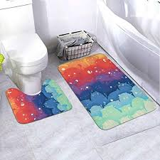 badematte set rutschfest gummi badezimmermatte toilette
