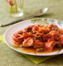 cuisiner la dinde filets de dinde aux olives vertes et à la sauce tomate les