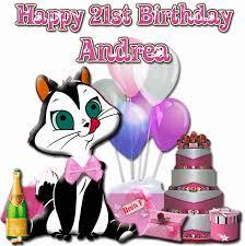 Andrea Happy Birthday Clipart 1