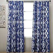 Allen Roth Curtains Alison Stripe by Allen Roth Alison 84 In Blue Polyester Rod Pocket Light