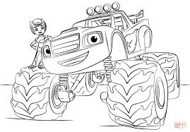 Blaze Monster Truck Coloring Page And The Machines Pages - Rescuedesk.me