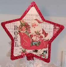 Vintage Inspired Santa Claus Christmas Tree Topper