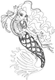 Monster High Sirena Von Boo Coloring Pages