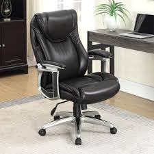True Innovations Black Leather Executive Office Chair | Costco UK