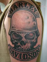 Harley Davidson Skull Bike Tattoo Photo