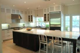 Kitchen Island With Attached Table Round To
