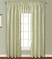 Geometric Pattern Grommet Curtains by Addison Faux Silk Embroidered Panel U2013 Natural U2013 United View All