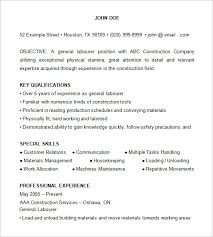 Construction Resume Example 2