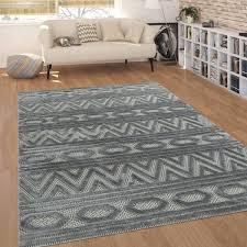 kurzflor teppich ethno design