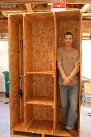 diy homemade wood garage storage wall cabinet for small and narrow