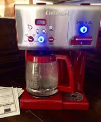 Cuisinart CHW 12 Coffee Plus Cup Programmable Coffeemaker With Hot Water Red