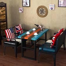 sofa set mit stühlen und esstisch für wohnzimmer möbel hotel restaurant amerikanischen retro kreativen stil